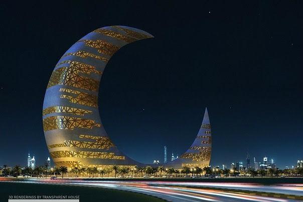 Qiellgërvishësi i gjysmëhënës në Dubai.
