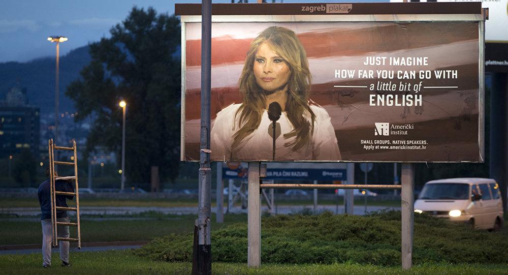 Kroatët  marketing me Melania Trump  ja ku mund të mbërrish me pak anglishte