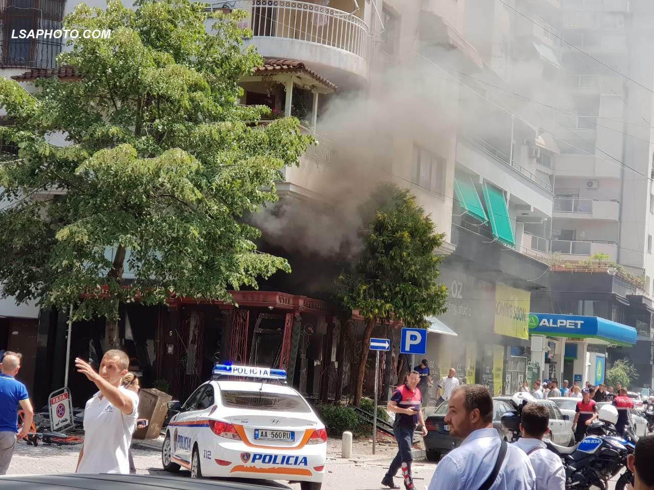 Shpërthim bomb ul e në Tiranë  panik dhe katër të plagosur