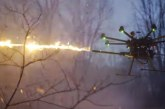 VIDEO: Vjen droni që vjell flakë, por kundër kujt?