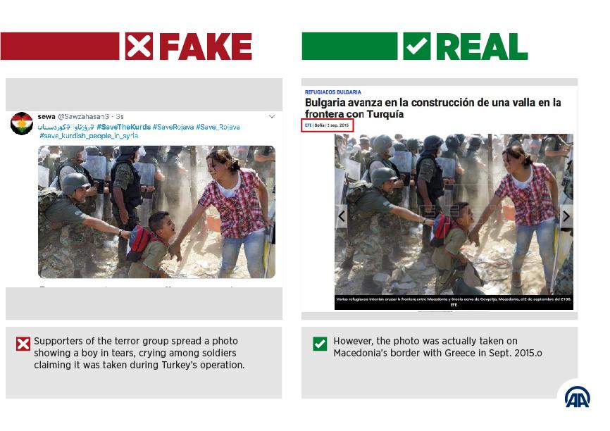 Zblulohet makineria  fake news  e kurdëve  si manipulojnë me foto nga Maqedonia e Palestina