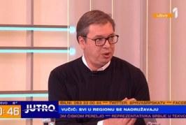 """Vuçiç: Albin Kurti një kërcënim, rajoni nën armatim, """"Shengeni i vogël"""" një shpëtim"""