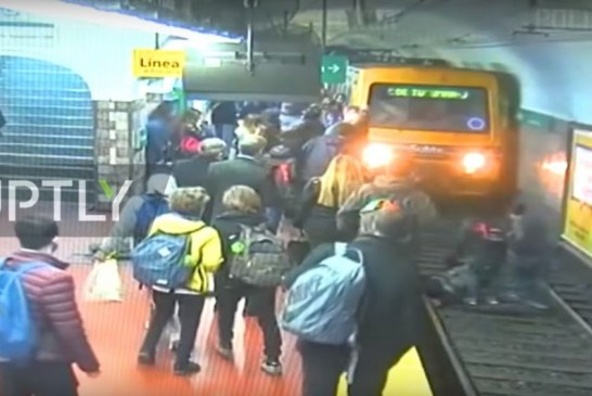 Gruaja bie aksidentalisht mbi shina ndërsa treni afrohet: pse dhe si qe fundi? (video)