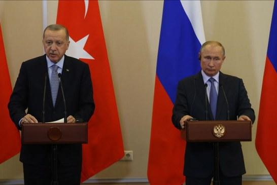 """Erdogan: Turqia dhe Rusia, """"marrëveshje historike"""" mbi Sirinë"""