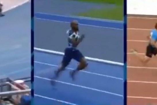 Pista e gabuar: atleti amerikan që mendoi se theu rekordin e Usain Bolt (pamje)
